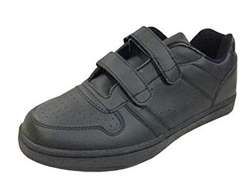 Benefit Wear Mens or Womens Leather Sneaker Shoe Double Velcro (Mens 9 Womens 11) OLwby