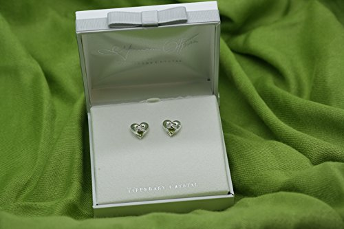 (Maureen O'Hara Irish Jewelry Silver Plated Claddagh Stud Earrings By Tipperary Crystal)