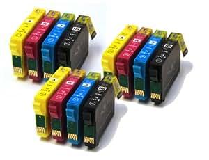 12cartucho de tinta compatible para impresora Epson MUFC limited edition Printer–cian/amarillo/Magenta/con Chip