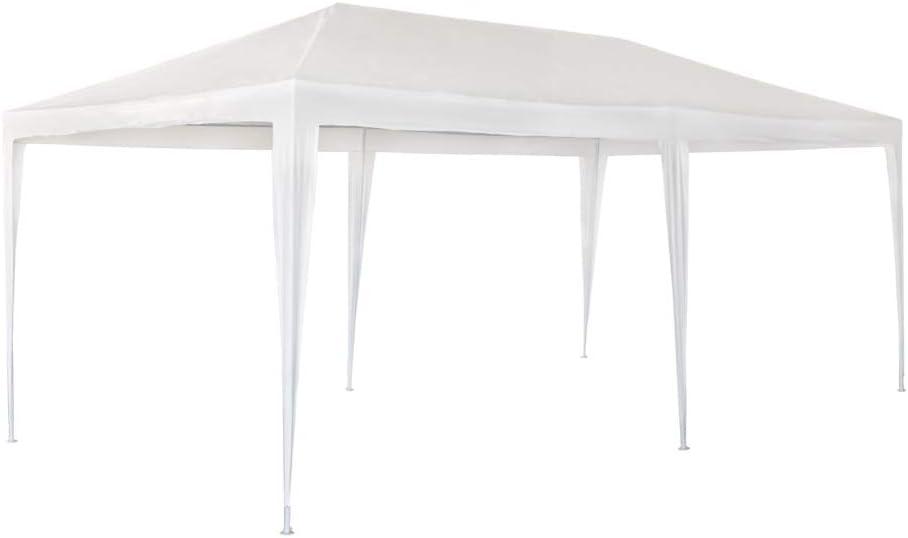 Aktive Garden 53992 - Cenador de Plástico Blanco 300 x 600 x 255 ...