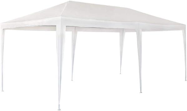 Aktive Garden 53992 - Cenador de Plástico Blanco 300 x 600 x 255 cm con Tubos de Acero: Amazon.es: Jardín