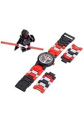 LEGO Kids' Star Wars Darth Maul Plastic Watch with Link Bracelet and Figurine