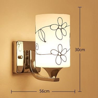ANYE Frosted Glass Shade Modern Minimalist Bedroom Bedside Lamp Living Room Balcony Staircase Lamp with UL Button Switch Cord Bulb Not Included BD0838