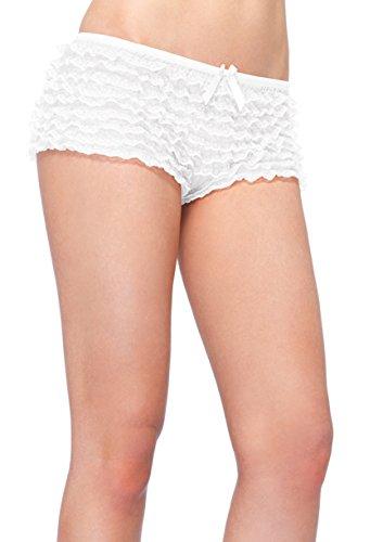 Leg Avenue Sexy Plus Size Lace Ruffle Tanga Short ()