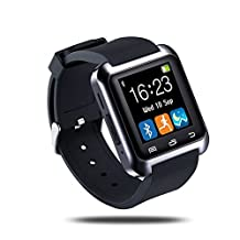 U80 Bluetooth 4.0 Smart Wrist Wrap Watch Phone for Smartphones IOS Android Apple iphone 5/5C/5S/6/6 Puls (Black)