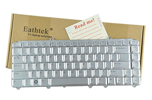 Eathtek Replacement Keyboard for Dell Inspiron 1420 1520 1521 1525 1526 series Silver US Layout, Compatible with part number NK750 0NK750