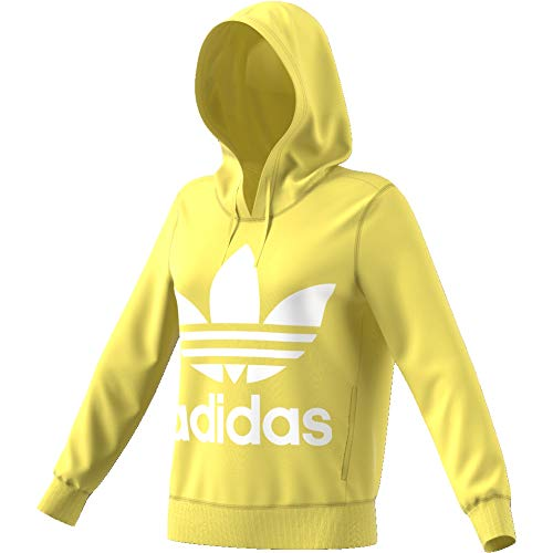 Amarillo Sudadera Hoodie Mujer Capucha Con Adidas Trefoil yellow YxanZvBE