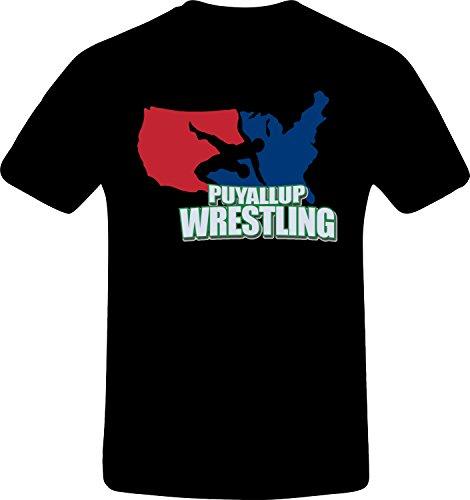 Puyallup Wrestling, Best Quality Custom Tshirt (5XL, BLACK) (Best N64 Wrestling Games)