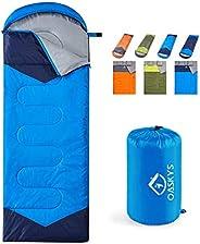 oaskys Camping Sleeping Bag - 3 Season Warm & Cool Weather - Summer, Spring, Fall, Lightweight, Waterproof