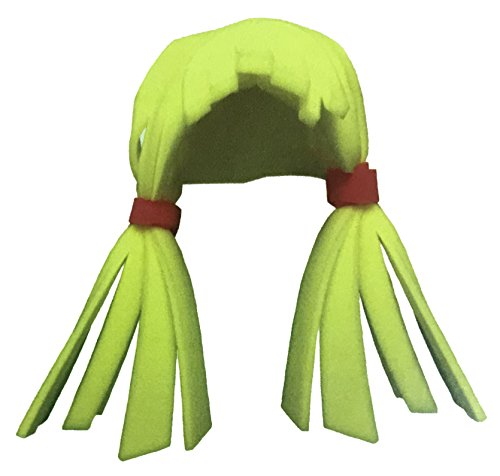 Funky Fresh Blonde Hair German Fraulein Girl with Pigtails Ladies Foam Wig Party Hat One Size Fits -