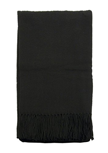Simplicity Lightweight Fleece Throw 50x70 w/Fringe Durable Blanket Pure Color