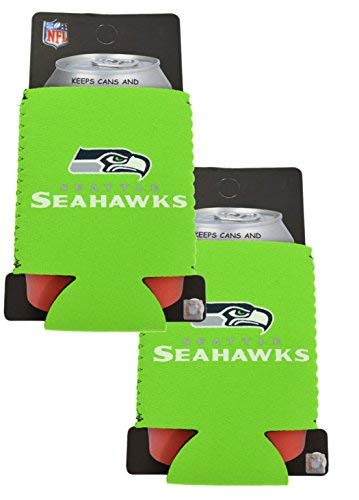 Official National Football League Fan Shop Authentic 2-Pack NFL Insulated 12 Oz Can Cooler (Seattle Seahawks)