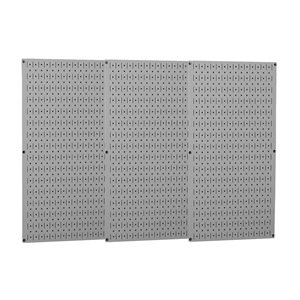 Wall Control - 35-P-3248GY - 32 x 48 20 ga. Steel Pegboard with 600 lb. Load Rating, Gray