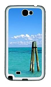 Samsung Note 2 Case Caribbean Poles TPU Custom Samsung Note 2 Case Cover White