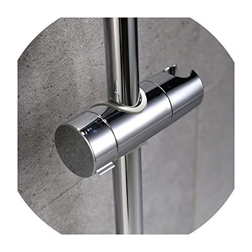 - ABS Chrome Shower Head Holder Adjustable 22-25MM Bathroom Shower Bracket Rack Slide Bar Bathroom Faucet Accessories Shower
