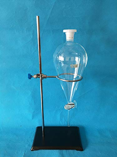 1000ml Glass Separatory Funnel Set, 1000ml with Glass Stopcock and Ringstand