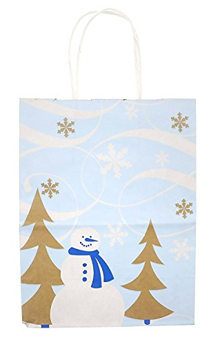 Standard Reusable Christmas Gift Bags Snowman 20 Pack - Medium