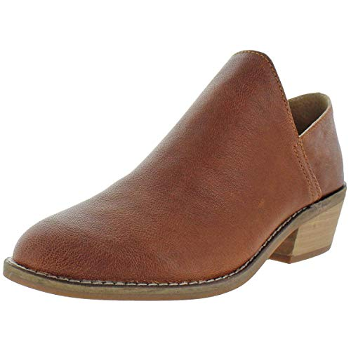 Lucky Brand Women's Fausst Ankle Boot, Whiskey Distressed Leather, 6.5 M US