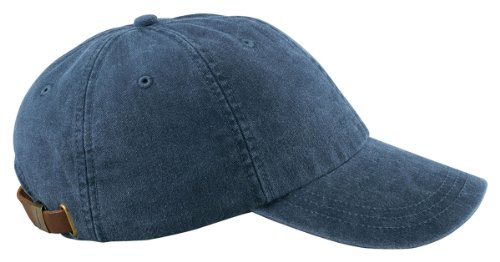 Adams 6-Panel Washed Pigment-Dyed Cap, Midnight, OS Pigment Cap
