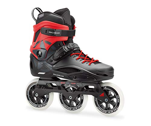 Rollerblade RB 110 3WD Unisex Adult Fitness Inline Skate, Black and Red, High Performance Inline Skates, US Size 8