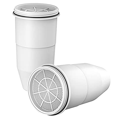 AQUACREST ZeroWater Replacement Water Filter, Compatible with ZeroWater Dispensers and Pitchers (Pack of 2)
