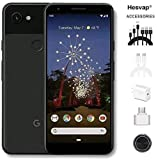 "Google Pixel 3a 5.6"" 64GB Unlocked Cell Phone Android Smartphone - Black, AT&T/T-Mobile/Verizon W/Cellphone 7 in 1 Accessories"