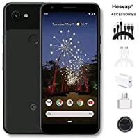 "Newest Google Pixel 3a XL 5.9"" 64GB Memory Cell Phone Unlocked Android Smartphone - Black, AT&T/T-Mobile/Verizon W/Valued 69.99 Mobile Phone 7in1 Accessories"