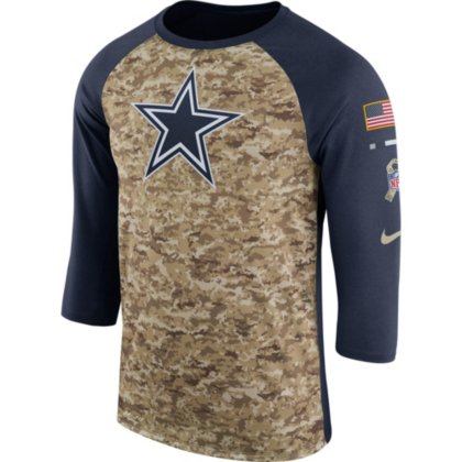 official photos bed7f 2e07e Dallas Cowboys Nike Mens Salute to Service Raglan Tee
