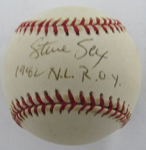 Steve Sax Los Angeles Dodgers 1982 N.L. R.O.Y. Signed ONL Baseball JSA 136653 by Best Authentics