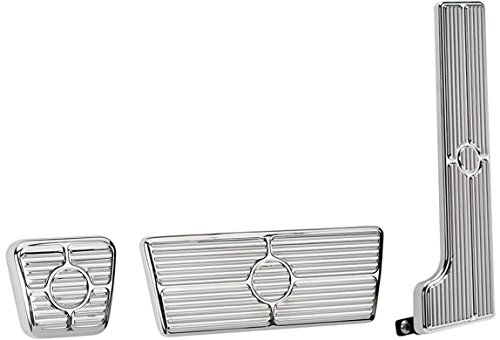 - NEW BILLET SPECIALTIES POLISHED 58-64 CHEVY PEDAL KIT FOR AUTOMATIC TRANSMISSIONS INCLUDING GAS PEDAL ASSEMBLY, BRAKE PEDAL PAD, AND E-BRAKE PEDAL PAD, BEL AIR, BISCAYNE, BROOKWOOD, IMPALA, NOMAD