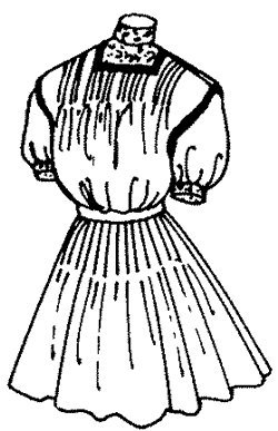 [1910 Girls' Tucked Over-Blouse or Jumper Pattern] (1910 Costumes)
