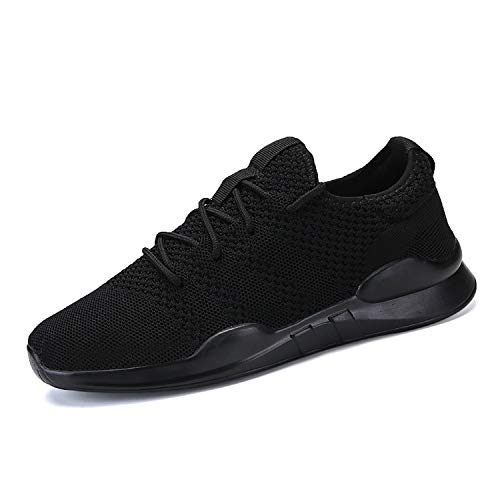 6caa791b27763 SSLOPY& Woven Men Casual Shoes Breathable Male Shoes TeMasculino Shoes  Zapatos Hombre Sapatos Outdoor Shoes Sneakers Men All Black-7057 6.5