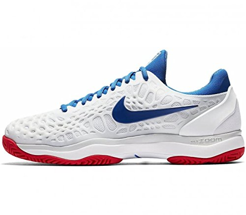 Nike Mens Zoom Cage 3 Tennis Shoes B01NCP53N0 9.5 D(M) US|White/Blue Jay-pure Platinum