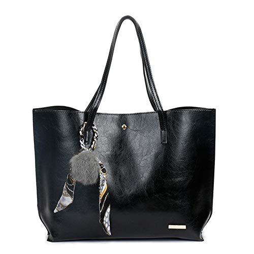 Lady À Sac Balle Handbag 6 Décoration Mzdpp Bandoulière Rétro Cheveux Simple Casual Mode Black Capacité Grande Couleurs Dames qwYtzwvU