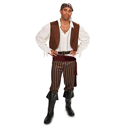 [Rebel Pirate Male Adult Costume L] (Adult Sailor Captain Costumes)