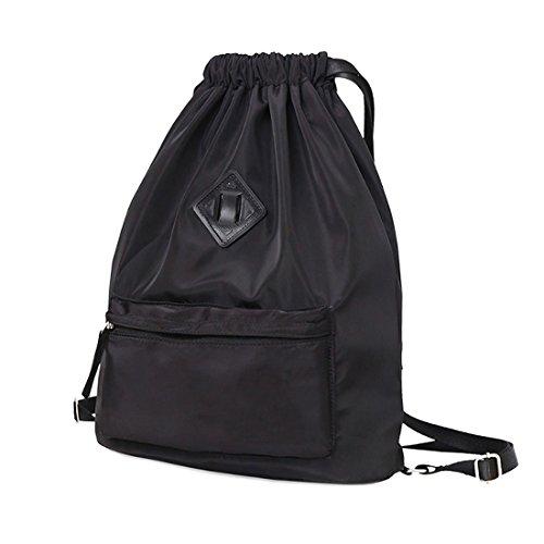 d562a59d50 Drawstring Backpack Waterproof Snow Resistant Bookbag Lightweight Sport  Gymsack Sackpack
