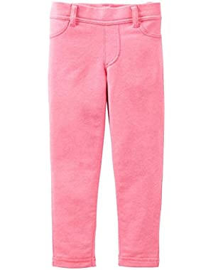 Girl's Pink French Terry Pants