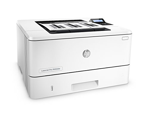 HP LaserJet Pro M402dw Wireless Laser Printer with Double-Sided Printing, Amazon Dash Replenishment ready (C5F95A) 4 FEATURES DESIGNED FOR YOUR BUSINESS: Monochrome laser printer, 2-line display with keypad, wireless printing, duplex printing FAST PRINT SPEED: print up to 40 pages per minute. First page out in as fast as 6.4 seconds. SOLID SECURITY: Keep printing safe from boot up to shutdown with security features that guard against complex threats.