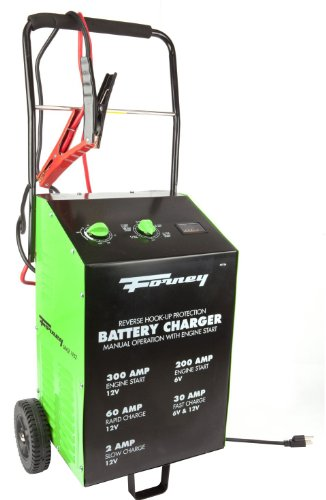 Forney 52726 Wheeled Battery Charger, 2/30/60/300-Amp, 6/12-Volt by Forney