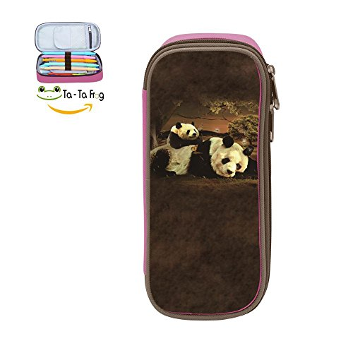 Top Large Capacity Canvas Cosmetic Bag Multi-Colored For Boy ,Print Panda ,Pink hot sale