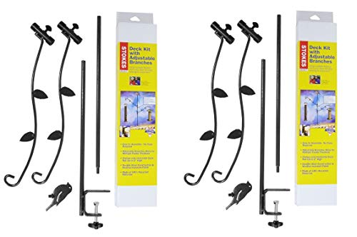 (Stokes Select Bird Feeder Metal Deck Pole Kit with Two Adjustable Branches, 2)