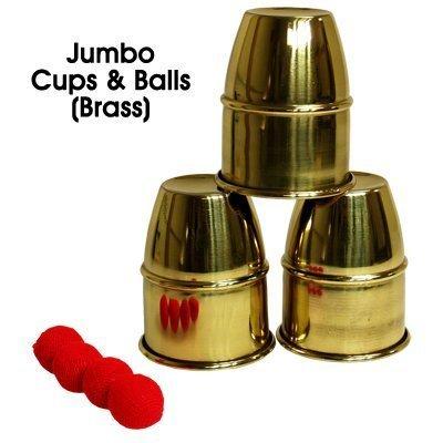 MMS Jumbo Cups and Balls (Brass) by Premium Magic - Trick