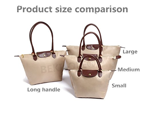 Bags Tote Stylish Long BEKILOLE Travel Nylon Beach Shoulder Handle Waterproof Bag Burgundy Women's ZxS5qtz