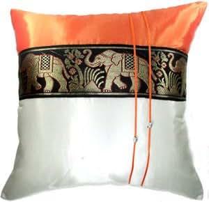 Amazon Com Sale 70 Off Artiwa Orange Amp Cream Throw
