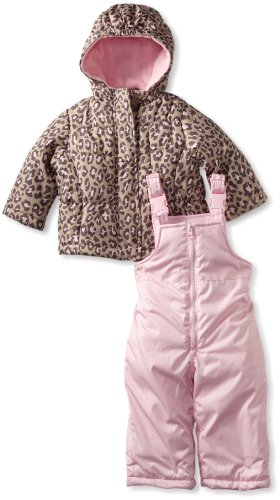 Carter's Baby Girls' Snowsuit, Cheetah, 12 Months