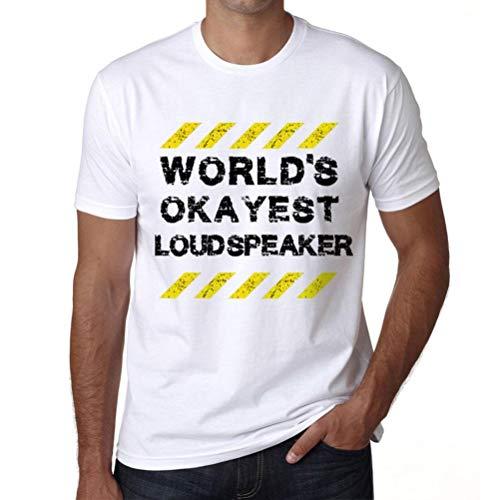 Men's Vintage Tee Shirt Graphic T Shirt Worlds Okayest Loudspeaker White (Best Loudspeakers In The World)
