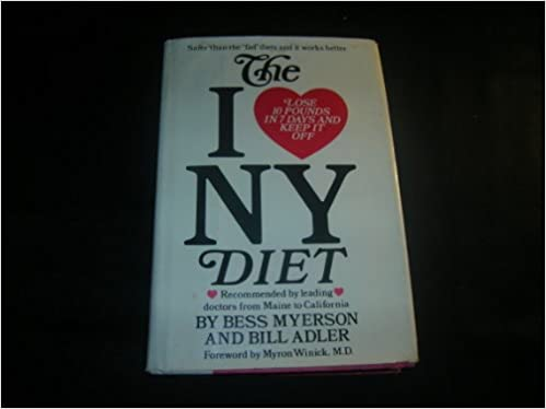 The I Love New York Diet Bess Myerson Bill Adler 9780688011024