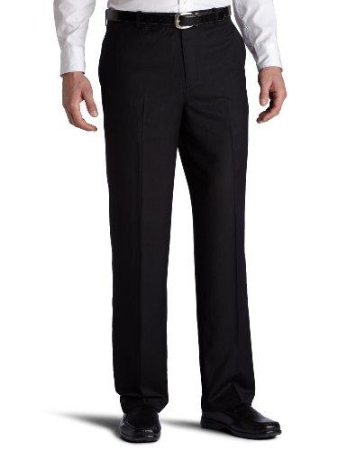 Perry Ellis Men's Mini-Herringbone Black Pant
