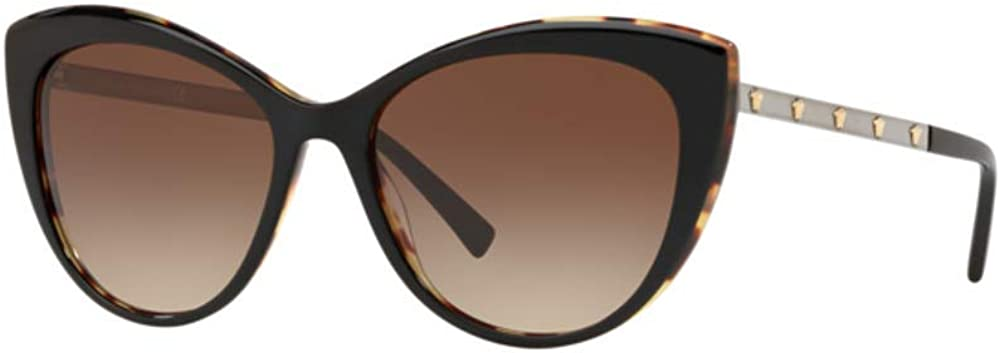 Black//Havana Frame Brown Gradient VE4348-517713-57 Versace VE4348 Sunglasses 517713-57