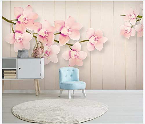 NIdezuiai Murals,Custom 4D Wallpaper Plant Series European Pink Flower Slat Art Print Wall Painting Hd Print Poster for Living Room Tv Backdrop Bedroom Hotel Decor Large Silk Mural 280Cm(H)×460Cm(W) (Series Slat Poster)